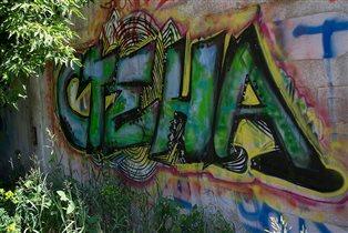 Parede. Омск, Зелёный остров. Стена