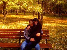 С любимым мужем на прогулке)