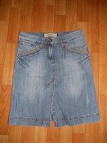Юбка джинсовая голубая Ostin