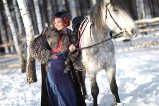 Конная прогулка зимой)