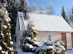 Зима на даче с банькой-чудо!