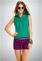 Зеленая блуза без рукавов XL (48-50)