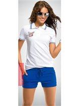 Белая футболка-поло Ж XL (48-50)