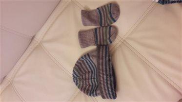 шапка на малыша mothercare 6-9мес
