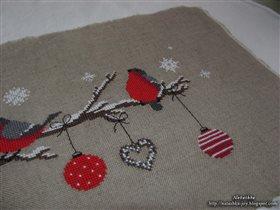 Снегири (будущая подушка)