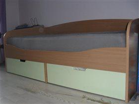 кровать 180х90 с двумя выдвижными ящиками