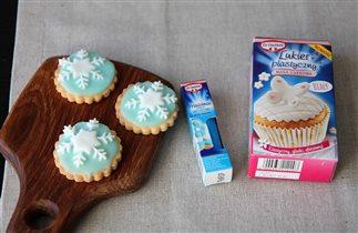 Печенье со снежинками :)