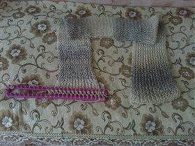 тёплый шарф, связан на прямоугольном луме