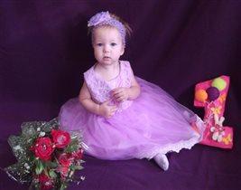Моей доченьке 1 годик