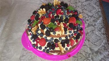 Тортик ' Пусть лето не кончается'