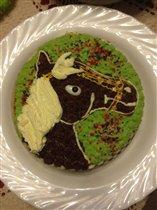 Тортик с лошадкой