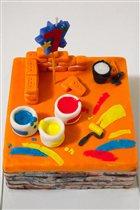 Торт для юного строителя
