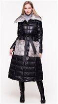 Пуховое пальто Odri 44, полноразмерное