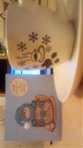 Новогодняя открытка для меня от Олечки