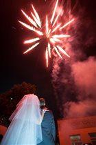 Фейверк в честь нашей свадьбы !