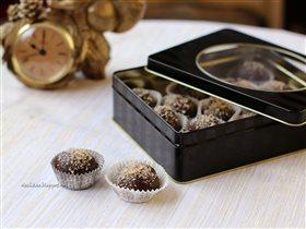 Карамель, орехи и шоколад