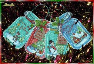 Christmas Jar Ornaments - Dimensions