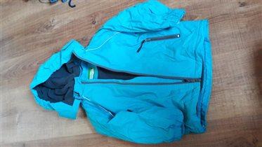 Куртка весенняя голубая 110
