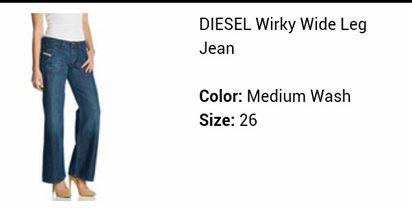 джинсы Diesel р.26=большемерят!на 27-28 скорее
