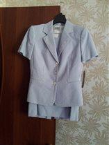 костюм юбка+пиджак с кор.рукавом, р.4=наш 42-44р.