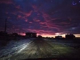 И даже такого цвета бывают облака!