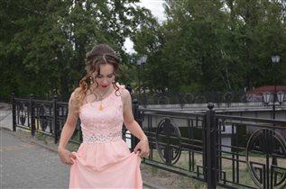 Доченька Катя на Выпускном