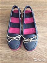 Мокасины crocs для девочки размер W5