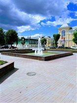 брызги фонтана