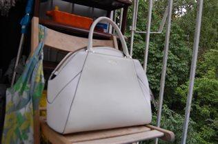 5376 Fiato кожа /лак белый (сумка женская)