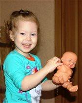 Кукла Женя нашей Насти отражение!