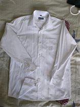 Рубашка белая б/у 1 раз 36/158-164 BROSTEM 500р
