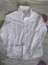 Рубашка белая б/у XL BENETTON 500р