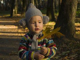 Большой осенний лист