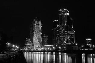Ночная Москва-Сити