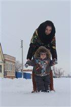Наши первые шаги по первому снегу