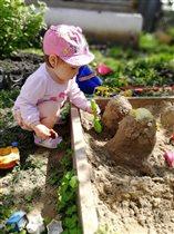 Играю в свой любимый песочек