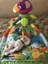 Знакомство с игрушками на развивающем коврике