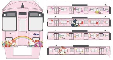 Поезда метро Hello Kitty в Токио - в развлекательный парк Китти