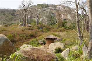 Ангольская деревушка в горах.