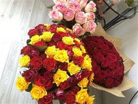 Мои букеты из роз на День Рождения.