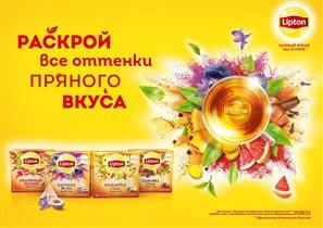 Новые чайные пирамидки Lipton с фруктами и специями