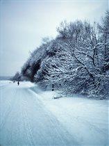 Белым снегом замело Все тревоги и печали Всё вокру