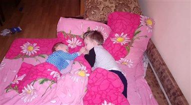 Братья спят, даже страшно мимо пройти)
