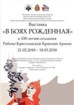 Выставка «В боях рожденная»