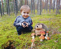 А я с ёжиком дружу, даже в лес его беру!