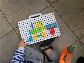 Развивающий детский конструктор с дрелью LampStory