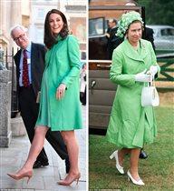 Кейт Миддлтон копирует королеву накануне третьих родов