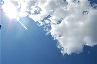 Чистое весеннее небо