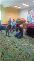 Встреча с любимым героем Человеком пауком