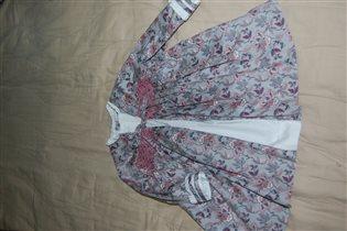Платье р.80 серое с белым Испания